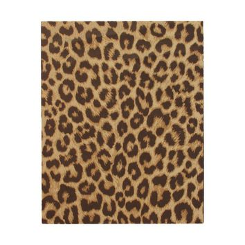 Leopard Print Wood Wall Art