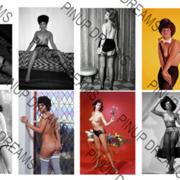 Beautiful Set of 10 Vintage 6 x 4 Photograph re-prints of Pin-ups and Burlesque Artists from the past. Set Number 02 (Get Any 4 For 3)
