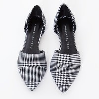 Hounds tooth pointy flats:  - Shop the latest Fashion Trends