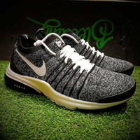 Best Online Sale Nike Air Presto QS 17ss Flyknit Running Shoes Men Grey Black White Sport Shoes