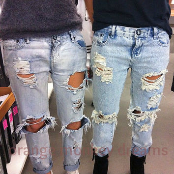 custom distressing for your jeans/denim shorts unisex women men children service