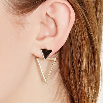 Geo-Shaped Drop Earrings