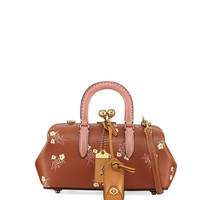 Coach 1941 Colorblock Wide Embroidered Leather Satchel Bag