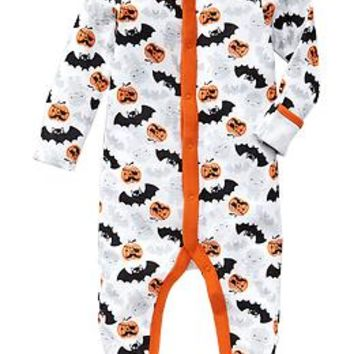 Halloween-Print Footed Sleepers for Baby