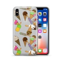 Ice Cream Pandemonium - Clear TPU Case Cover