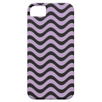 African Violet And Black Waves Graphic Art Pattern iPhone 5 Case from Zazzle.com
