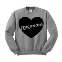 Mermaid Heart Crewneck Sweatshirt