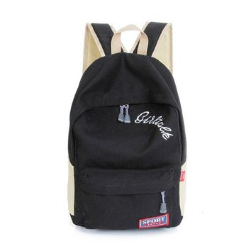 University College Backpack   The female   Rucksack embroidery letters of junior high school students tidal travel bagAT_63_4