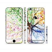 The WaterColor Vivid Tree Sectioned Skin Series for the Apple iPhone 6
