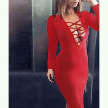 LMFUX5 hollow out tight dress-3