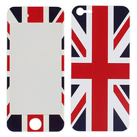 The Union Jack Pattern Front and Back Protector Stickers for iPhone 5 - DKK kr. 53