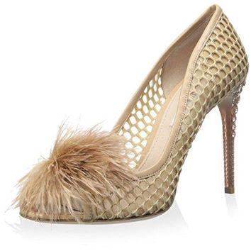Miu Miu Women's Open Toe Pom Pom Pump