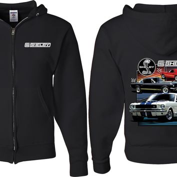 Ford Mustang Full Zip Hoodie Various Shelby Front and Back