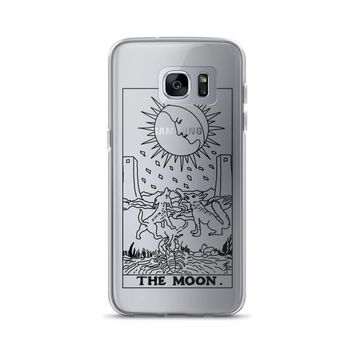 The Moon Tarot Card Clear Samsung Case