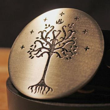 Lord of the Rings WHITE TREE OF GONDOR Belt Buckle