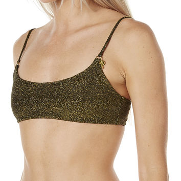 RUSTY ONYX BRA SEPARATE TOP - BLACK
