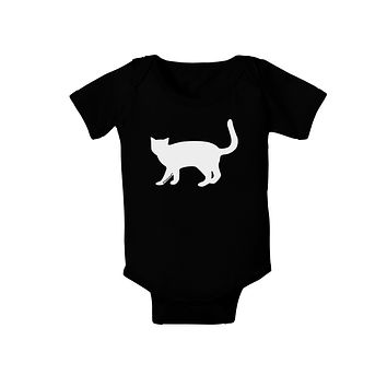 Cat Silhouette Design Baby Bodysuit Dark by TooLoud