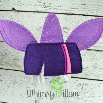 Twi Pony Headband Ears ITH Embroidery Design