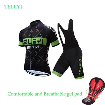 2018 Short Sleeve Summer Cycling Jersey BIB Shorts Sets MTB Bike Equipment Bicycle Clothing Cycle Clothes Maillot Dress Wear Kit