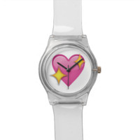 Sparkling Heart Emoji Watches