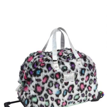 Cheetah Furry Roller Duffle