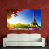Paris Eiffel Tower canvas print home decoration,France Home Decoration