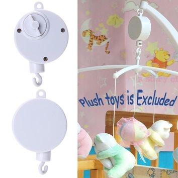 Music Songs Rotary Baby Mobile Crib Bed Bell Toy Baby Educational Toys Mobile Windup Bell Autorotation Music Box Baby Crib