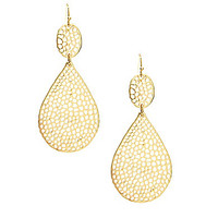 Anna & Ava Cut-Out Drop Earrings - Gold