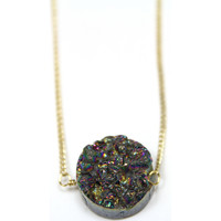 Round Druzy Nugget Necklace