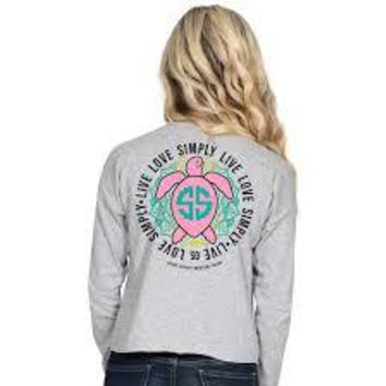 "Simply Southern ""Turtle"" Long Sleeve Shortie"
