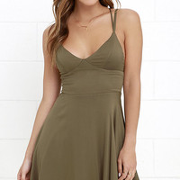 Chorus and Verse Olive Green Dress