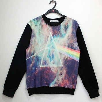 Sweatshirt Winter Fashion Unisex Printed Rainbow Sweaters Fleece S / M / L / XL = 1827692932