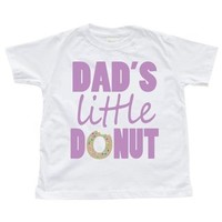 Dad's Little Donut White Toddler T-shirt