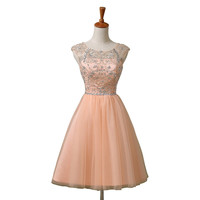 Chiffon Homecoming Dress,Homecoming Dress With Sequins,Sweet Homecoming Dresses