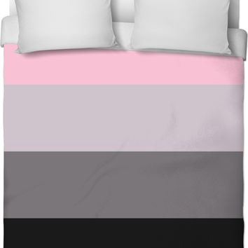 ROB Pink to Black Duvet Cover