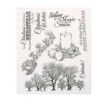 Christmas Wishes Transparent Clear Stamp for DIY Scrapbooking Card Decorative Embossing Stamp Sheet Wedding Decoration