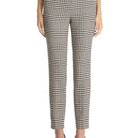 Anne Klein Petite Petite Glen Plaid Slim Pants