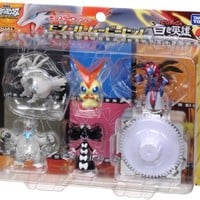 Pokemon Black & White Takaratomy Monster Collection Figure Movie Set - Victini and The White Hero: Reshiram