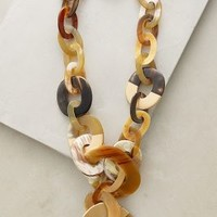 Block Horn Necklace by Anthropologie in Neutral Motif Size: One Size Necklaces