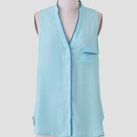 Take The Train Blouse In Mint