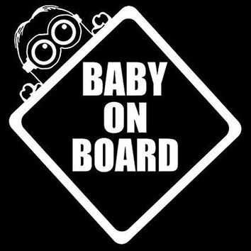 Baby On Board Minions Despicable Me Vinyl Car Decal