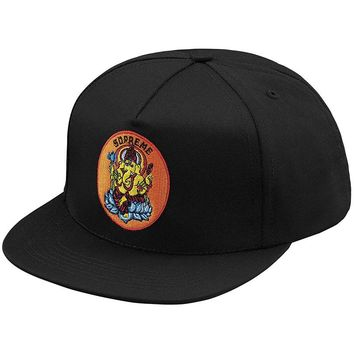 Ganesh 5-Panel Snapback Hat Black