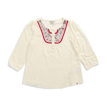 Lucky Brand Girls 7-16 Embroidered Peasant Top