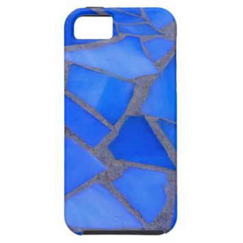 Pretty Lapis Blue Stained Glass Mosaic Texture iPhone 5 Case