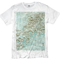 NASA T-shirt Lunar Moon Map Graphic Tee