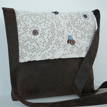 Messenger Bag Vintage style by jazzygeminis on Etsy