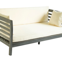 """Outdoor Sandy 73"""" Day Bed, Gray, Outdoor Daybeds"""