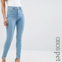 ASOS PETITE Ridley Skinny Jeans in Anais Light Wash at asos.com