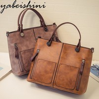 Women Casual Patent Leather Hand Bag