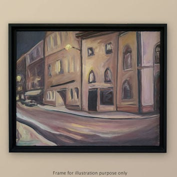 Original Oil Painting 16x20, on Canvas, Art, Landscape, Fine Art, Northern Italy, Street, Plein Air, by Scott Zdon